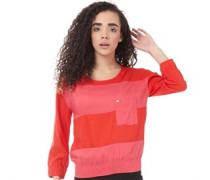 adidas Neo Womens ST Stripey Top Red/Pink