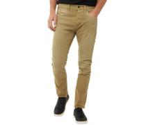 Luke Echo Jos 999 Anti-Fit Jeans in Slim Passform Gelb