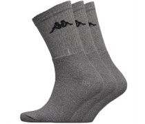 Drei Pack Crew Socken meliert