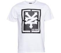 Zoo York Herren Malto Big Logo T-Shirt Weiß