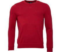 Lyle And Scott Vintage Mens Crew Neck 12GG Knitted Sweatshirt Ruby