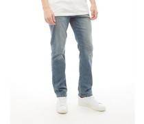 Jeans mit geradem Bein Stonewash