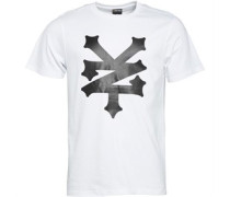Zoo York Herren Empire Big Logo T-Shirt Weiß