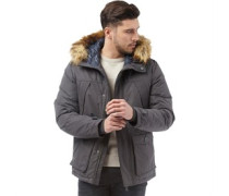 Herren Originals Mountain Parka Jacke Anthrazit