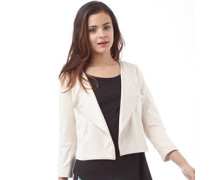 Only Womens Erica Faux Suede Blazer Pumice Stone