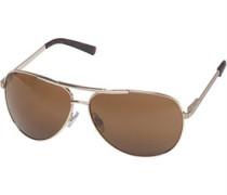 Herren Aviator Sonnenbrille Gold