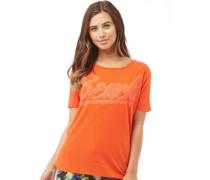 Damen Oversized Graphic T-Shirt Orange/Rot