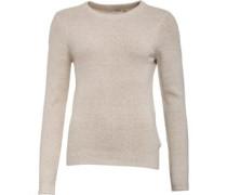 Pullover mit Rundhalsausschnitt Sandbraun