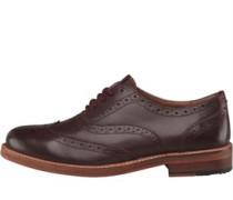 Herren Oxford Brogue Schuhe Braun