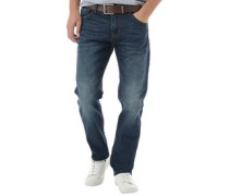 Crosshatch Herren Lartoons ed wash Jeans in regulär Passform Blau