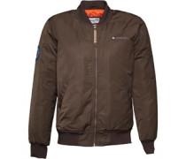 Lambretta Mens MA1 Jacket With Badge Olive