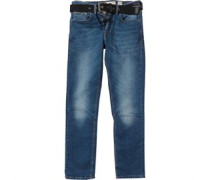 Crosshatch Herren Bancroft Stretch ed wash Jeans in regulär Passform Blau