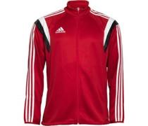 adidas Mens Condivo 14 3 Stripe Climacool Full Zip Training Jacket University Red/Black