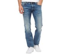 Herren Safado 0853I Jeans mit geradem Bein Denimmeliert Blau