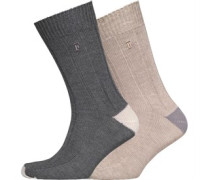 French Connection Herren Sand Socken Mehrfarbig