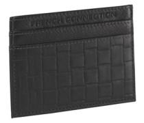 Herren Weave Emboss Cardholder Brieftasche Black