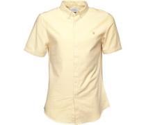 Herren Brewer Hemd mit kurzem Arm Gelb