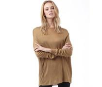 Damen Pullover mit Rundhalsausschnitt Hellbraun