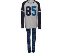 Jungen Top And Pant PJ Set Nachthemd Blautöne