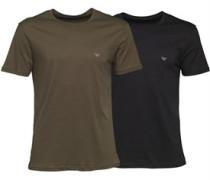 Herren Zwei Pack T-Shirt Schwarz