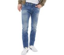 Mens Thavar Skinny Fit Jeans Light Blue Wash