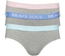 Damen Ella Drei Pack Bikini Unterhosen Grau