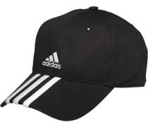 adidas Mens Essentials 3 Stripe Adjustable Cap Black/White