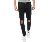 Ripped Skinny Jeans Schwarz