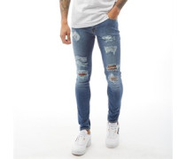 Liam Original AM 506 Skinny Fit Skinny Jeans Dunkelsteingrau