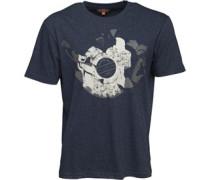 Herren Rockability Mod T-Shirt Denim Meliert