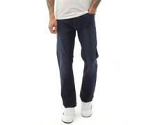 Stretch Crossch Denim Bootcut Leg Bootcut Jeans Dunkel
