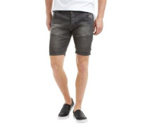 Herren Lasike Denim Shorts Grey Wash