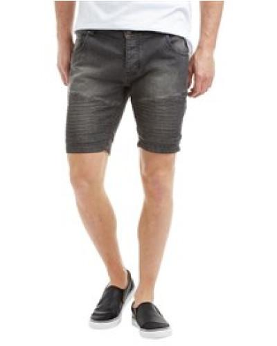 Herren Lasike Denim Shorts Verblasstes Grau