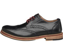 Herren Bale Leather Brogue Brogue Schuhe Schwarz