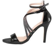 AX Paris Womens Michelle Strappy Heeled Sandal Black
