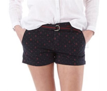 Damen Printed Boy Shorts Navy