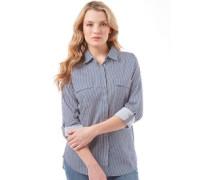 Damen Bluse Mit Langem Arm Navy