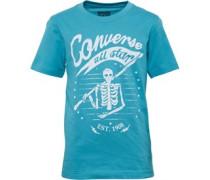 Jungen Skeleton Flag T-Shirt Agean Aqua