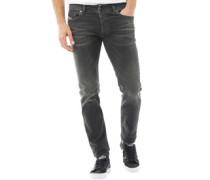 Herren Troxer R9F66 Jeans in Slim Passform Schwarz