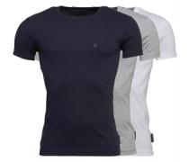 Crown Drei Pack T-Shirt Weiß