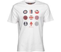 Herren Symbol Prints T-Shirt Weiß