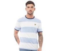 Wide Stripe Ringer T-Shirt Weiß