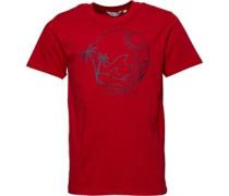Druck Line Drawing T-Shirt Rot