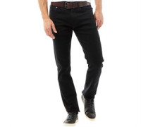 Herren Stretch Zip Fly Stretch Jeans in Slim Passform Schwarz