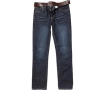 Firetrap Herren Gambit Dyed Jeans mit geradem Bein Blau