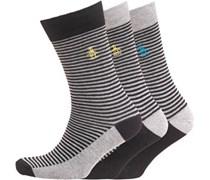 Original Penguin Herren Three Pack Socken Schwarz