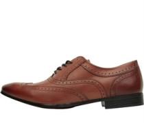 Herren Court Brogue Schuhe Waxy Tan