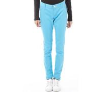 Damen Jeans in Slim Passform Aquamarine