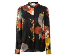 Bluse 'Calfier' mit floralem Muster Schwarz