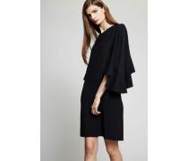 Kleid mit Volants Schwarz